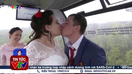 Đám cưới tập thể trên cáp treo  VTVcab
