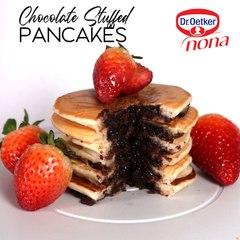 Chocolate Stuffed Pancake