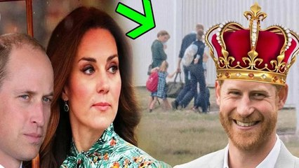 Shock news! William gave the throne to Harry, as he agreed to keep quiet about Kate's dirty secrets