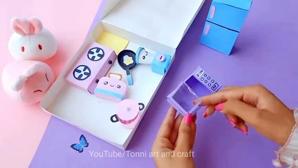 DIY Homemade toy Kitchen set for kids - How to make kitchen set - Paper kitchen set Crafts - DIY