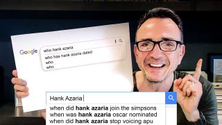 Hank Azaria Answers the Web's Most Searched Questions
