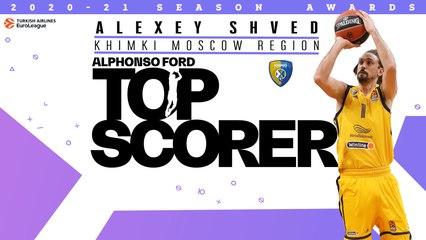 Alphonso Ford Top Scorer Trophy: Alexey Shved, Khimki