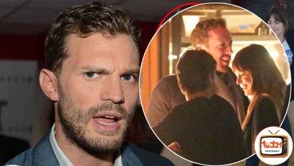 Jamie Dornan was angry when he caught Dakota Johnson having an intimate dinner with Chris Martin