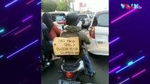 Viral! Takut Dikira Mudik, Pemuda Ini Tulis Pesan Kocak
