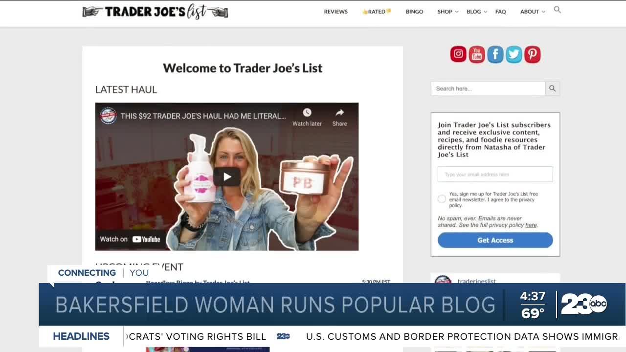 Bakersfield woman runs viral Trader Joe's blog