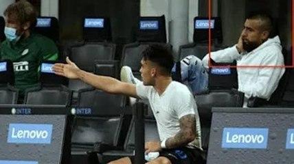 ✅  La faccia di Vidal dopo la lite tra Conte e Lautaro: non sai in che guaio ti stai cacciando