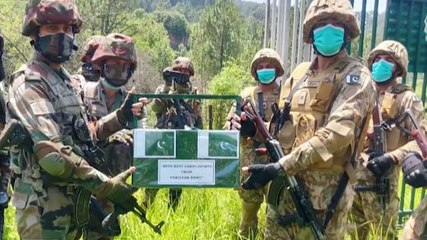 Image of the day: India, Pakistan armies exchange sweets at LoC on the occasion of Eid