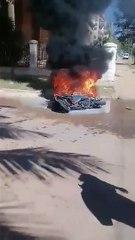 Se incendia una moto en La Habana