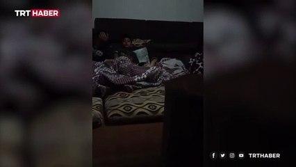 Gazze'de çocukların korku dolu anları kamerada