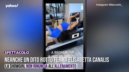 Neanche un dito rotto ferma Elisabetta Canalis