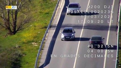 VÍDEO: Lo que ve un DRON de la DGT, ¿cuántas infracciones ves en este vídeo?