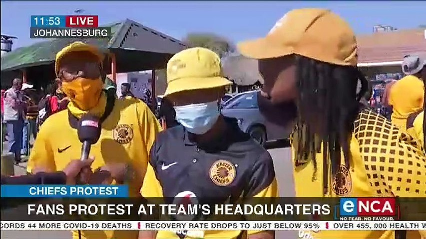 Chiefs fans protest at team's headquarters
