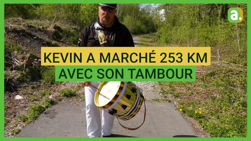 Kevin, le marcheur de l'Entre-Sambre-et-Meuse, a réussi son pari fou