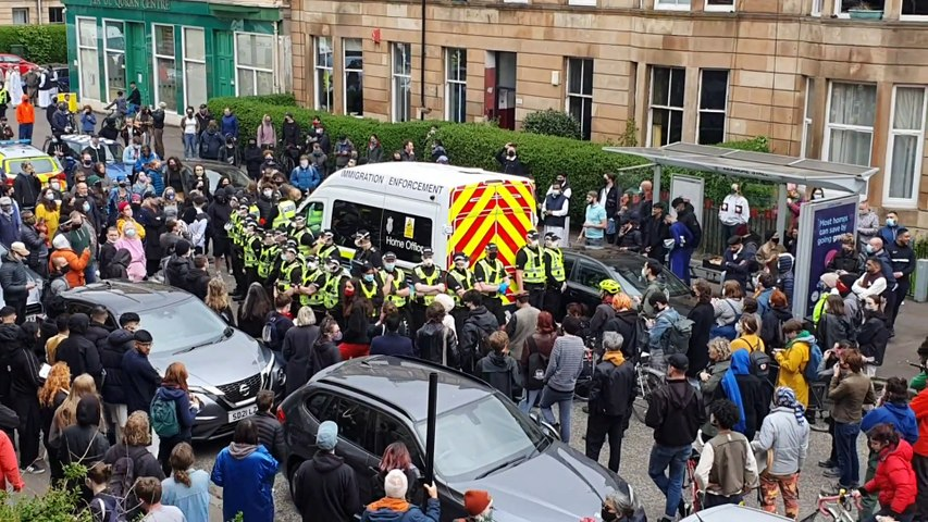 Kenmure Street Protest: Pollokshields locals talk about the attempt to forcibly remove their neighbours 24hrs before