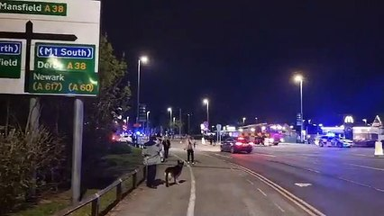 Lane End Allotments fire in Sutton in Ashfield