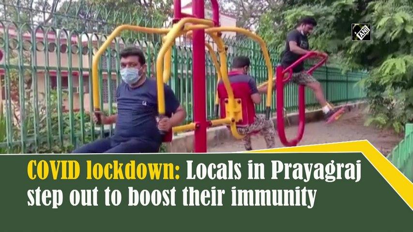 Locals in Prayagraj step out despite Covid-19 lockdown to boost their immunity