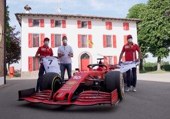 VÍDEO: Cristiano Ronaldo se lo pasa en grande con Ferrari en compañía de Carlos Sainz y Leclerc