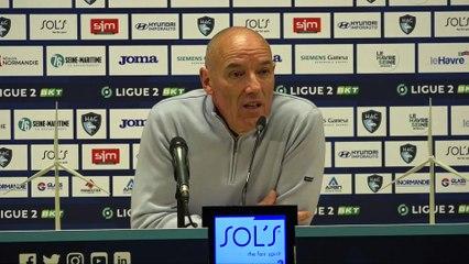Après HAC - Troyes (3-2), réactions de Paul Le Guen
