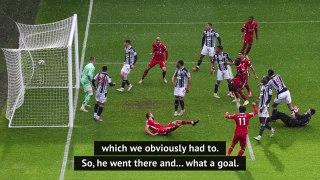 Klopp in awe of Alisson's 'world-class' goal