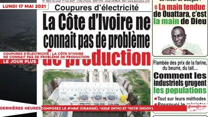 Le Titrologue du 17 Mai 2021 : Coupures d'électricité, la Côte d'Ivoire ne connait pas de problème de production