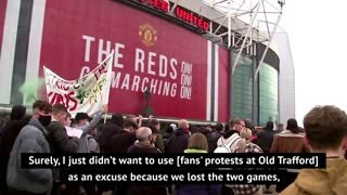 Solskjaer admits protests contributed towards United defeats
