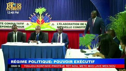 1ere serie des 9 débats sur le projet de la nouvelle Constitution