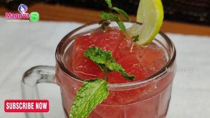 Watermelon Mojito Recipe | Watermelon Mojito in Telugu | (Summer Drinks) |   Mojito Mocktails Drinks | Maguva tv