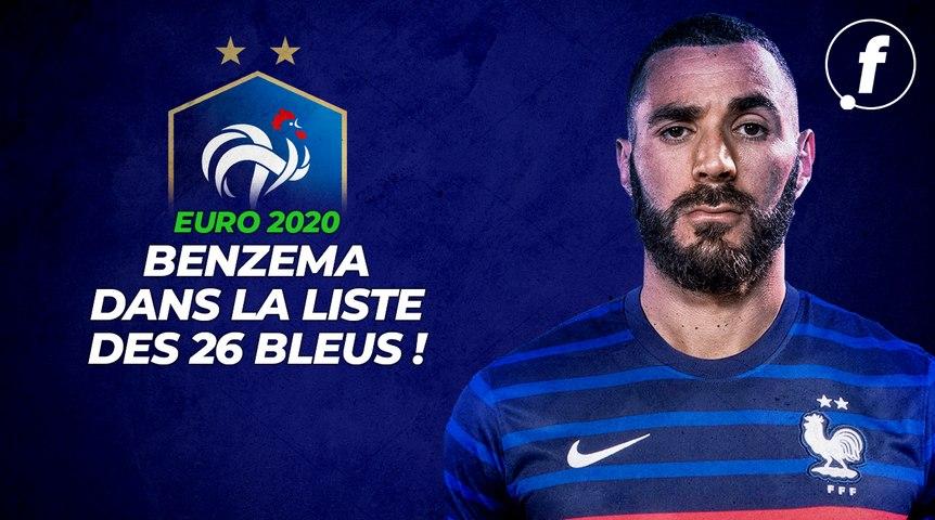Benzema dans la liste des 26 Bleus pour l'Euro !