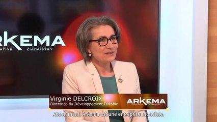 Interview de Virginie Delcroix, Directrice du développement durable d'Arkema, pour l'émission de Business Inside de FORBES