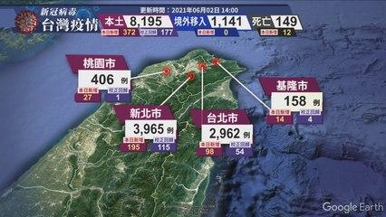 新冠病毒台灣疫情 更新時間 2021/06/02 14:00