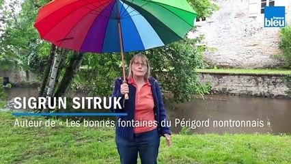 Sigrun Sitruk, auteur du livre « Les bonnes fontaines du Périgord nontronnais »