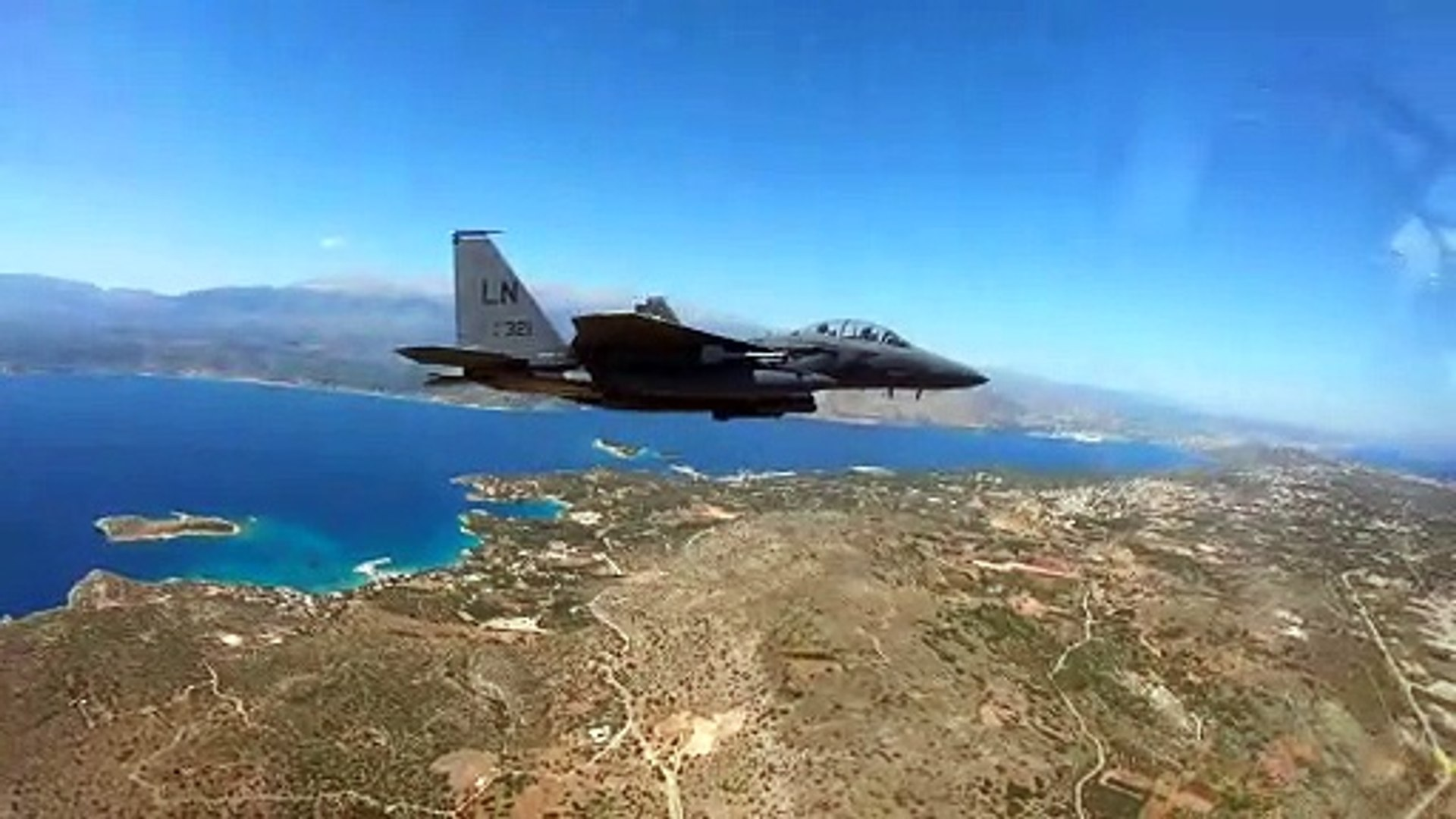 US Military News • U.S. Air Force F-15E Strike Eagles Fly over the Greek Islands • May 31 2021