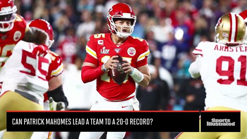 Can Kansas City Chiefs QB Patrick Mahomes Lead a Team to a 20-0 Record