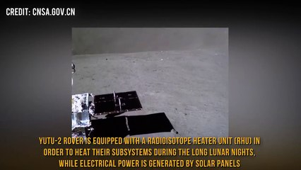 Lunar Rover drives close to Moon Crater (Chang'e 4 Yutu-2 mission)