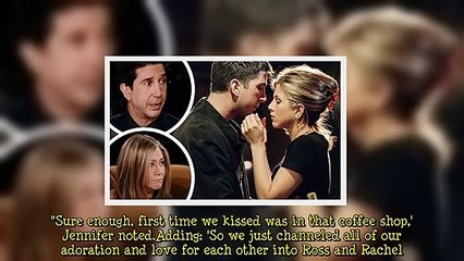 David Schwimmer and Jennifer Aniston had crushes on each other while on Friends... as the pals chat