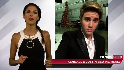 Kendall Jenner & Justin Bieber Raunchy Bed Pic Deleted