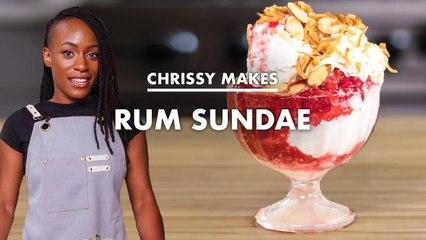 Chrissy Makes Rum Coconut Sundae