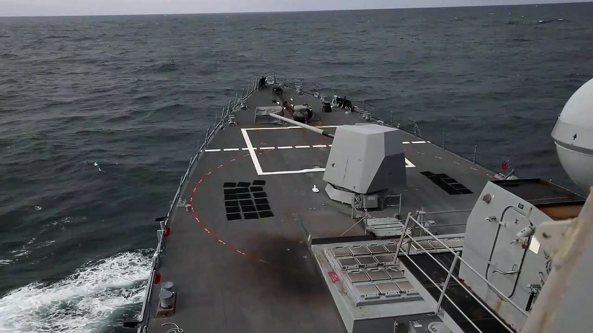 US Military News • US Navy Guided-Missile Cruiser Conducts RAS • Philippine Sea