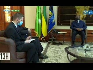 RTG/ Le Président Ali Bongo reçoit en audience l'ambassadeur de la fédération de Russie au Gabon