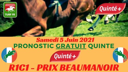 Minute Quinté TURF FR : PRIX BEAUMANOIR - Samedi 5 Juin 2021 - Paris Auteuil  PMU #241904