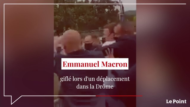 Emmanuel Macron giflé par un homme dans la Drôme