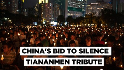 Hong Kong Lights Cigarettes As China Cracks Down On Tiananmen Commemorations