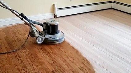 How hardwood floors are professionally refinished