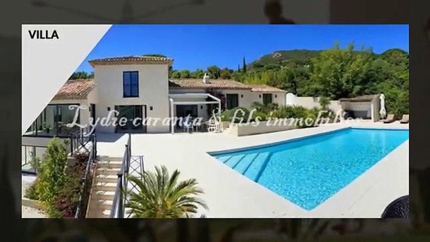 En vente à Grimaud beauvallon villa vue Mer avec piscine.