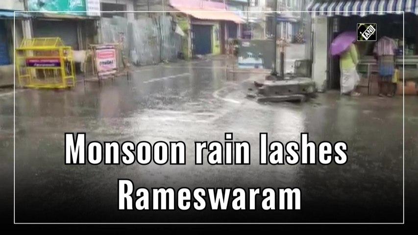 Monsoon rain lashes Tamil Nadu's Rameswaram