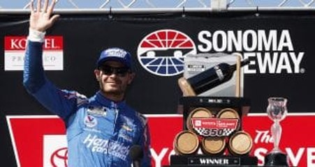 Cheers to NASCAR's return to Wine Country; Larson sweeps race