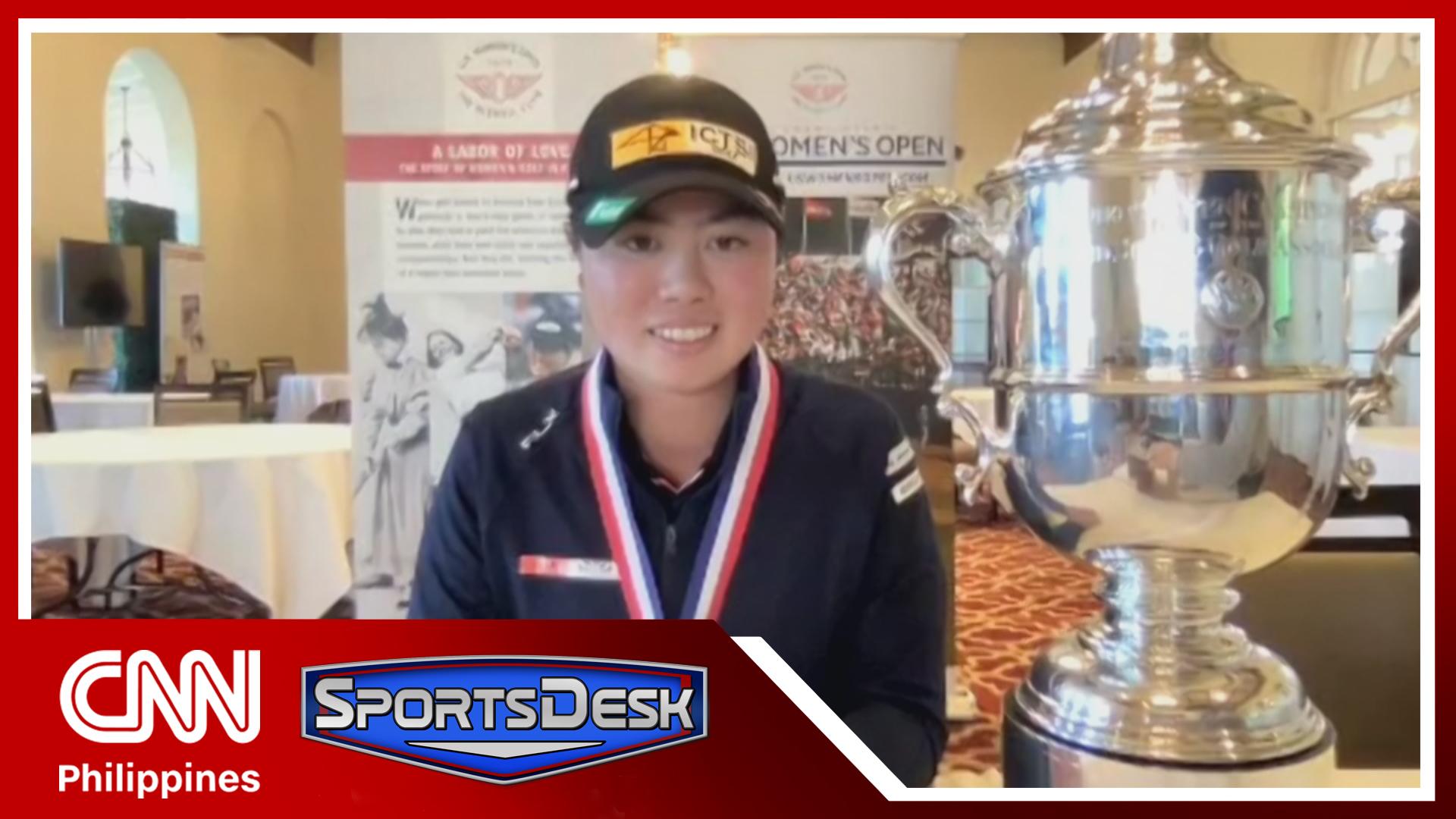 Filipino golfer Yuka Saso wins U.S. Women's Open Championship | Sportsdesk