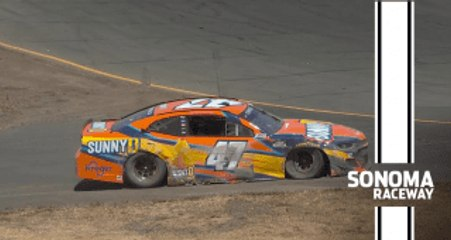 Ricky Stenhouse Jr. goes sailing off track at Sonoma