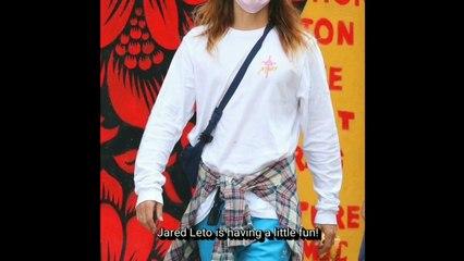 Jared Leto Strikes a Pose While Strolling Around Manhattan