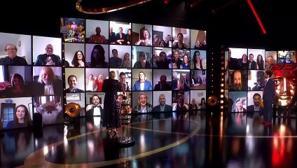 Diversity's Ashley and Jordan accept the award for Virgin Media 's #MustSeeMoment at the 2021 BAFTA TV Awards